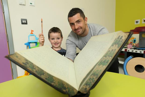 Rob Kearney launched the Crumlin Big Book of Memories campaign. Photo: CMRF Crumlin