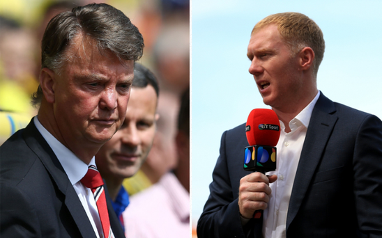 Paul Scholes has had another go at Louis van Gaal