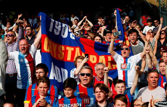 Crystal Palace fans at the end of the match Reuters / Stefan Wermuth