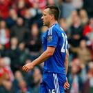 Chelsea's John Terry looks dejected after being sent off Action Images via Reuters / Ed Sykes