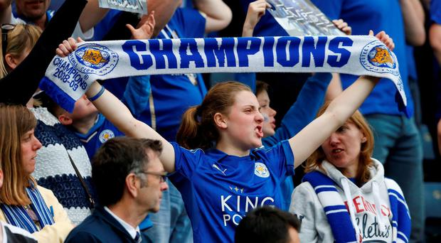 Leicester City fans Action Images via Reuters / Andrew Boyers