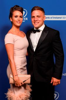 Leinster's Ian Madigan and Anna Kirwan pictured at the Leinster Rugby Awards Ball. Picture: Stephen McCarthy / SPORTSFILE