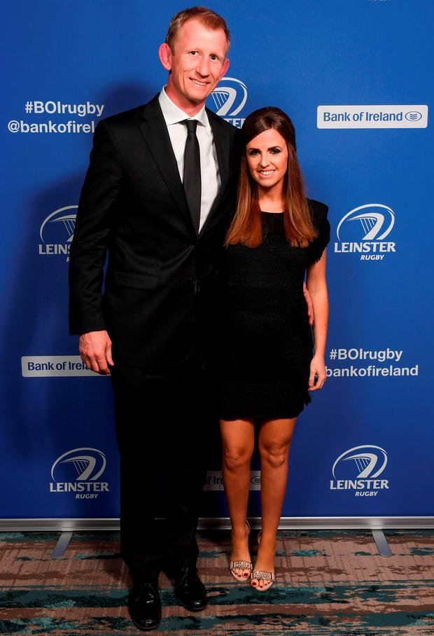 Leinster Rugby's Leo Cullen and his wife Dairine Kennedy