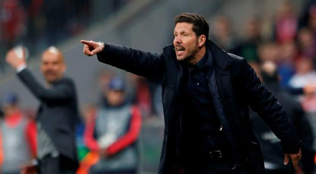 Atletico Madrid coach Diego Simeone. Photo: Reuters