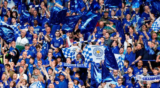 Leicester City fans celebrate winning the Barclays Premier League. Photo: John Clifton/Reuters