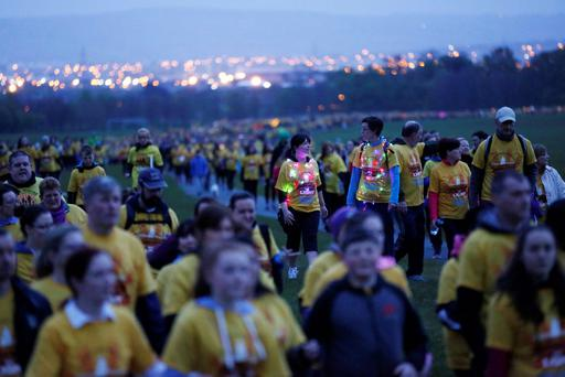 CHARITY: An estimated 120,000 people turned out for 5km dawn walks in aid of Pieta House's annual Darkness Into Light campaign on Saturday morning in nearly 120 locations. Photography: Sasko Lazarov/Photocall Ireland