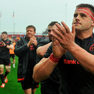 CJ Stander applauds the crowd after the game. Photo: Sportsfile
