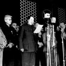 DESPOT: Chairman Mao Zedong officially announces the founding of the People's Republic of China in Tiananmen Square, Beijing on October 1, 1949. Seventeen years later, he unleashed the humiliation and deadly violence of his Cultural Revolution on the Chinese people. Photo: AP/Xinhua