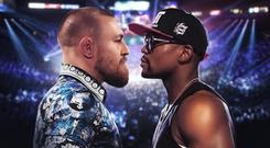 Conor McGregor and Floyd Mayweather Jr