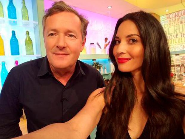 Piers Morgan and Olivia Munn on Sunday Brunch