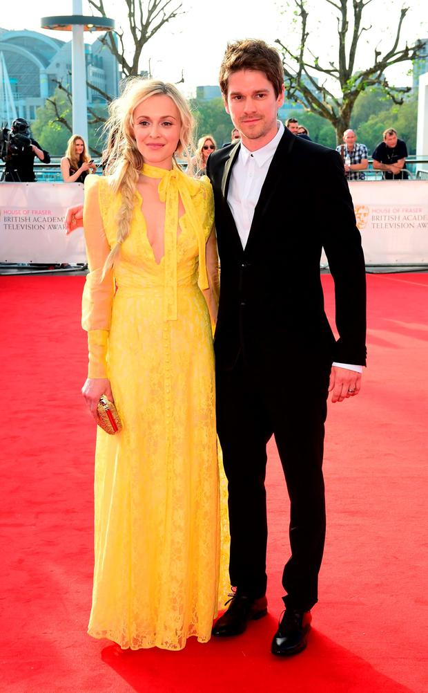 Fearne Cotton and Jesse Wood attending the House of Fraser BAFTA TV Awards 2016 at the Royal Festival Hall, Southbank, London.