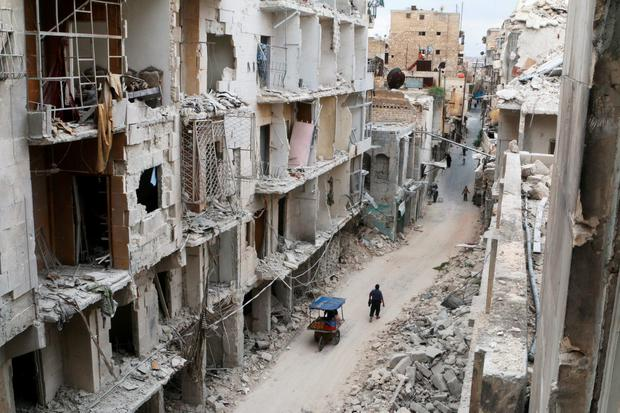 Charity group Goal have been carrying out work in war-torn Syria Photo: REUTERS / Abdalrhman Ismail