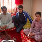 Family members (l-r) Fazal Ahmadzai (20), Abdul Ahmadzai (13) and Naqib Ahmadzai (18) who were attacked Photo: Arthur Carron