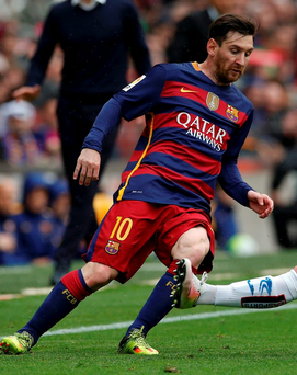 Barcelona's Lionel Messi in action. Photo: Albert Gea/Reuters