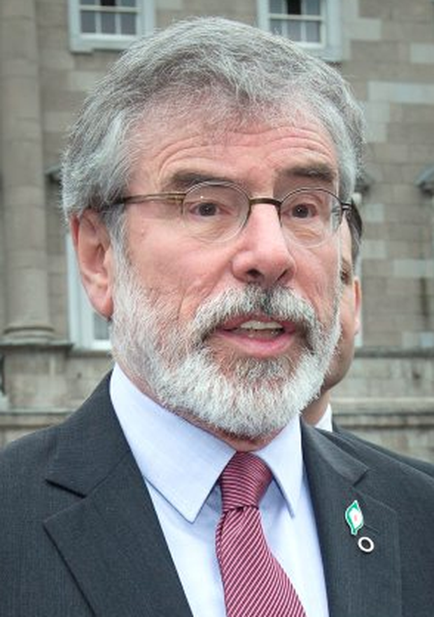 Gerry Adams: controversial tweet caused online outrage Photo: Tony Gavin