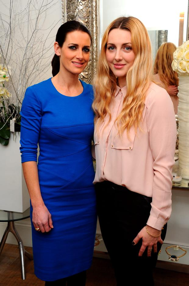 LONDON, ENGLAND - FEBRUARY 13: Kirsty Gallacher and Laura Gallacher attend a Valentine's charity event at Sophie Gass Boutique, Holland Park, raising heart awareness for Bernard Gallacher's 'Play Golf Help Save Lives' campaign in association with Arrhythmia Alliance on February 13, 2014 in London, England. (Photo by David M. Benett/Getty Images for Sophie Gass)