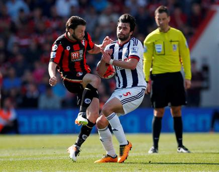 Bournemouth's Harry Arter put in a combative display against West Brom on Saturday