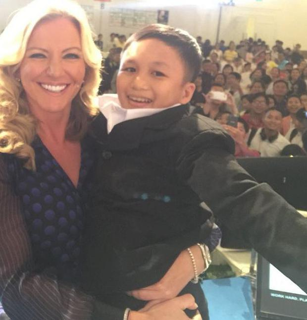 Michelle Mone, the bra tycoon, has told of her embarrassment after lifting up a man she mistook for a six-year-old boy.