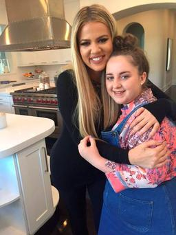 Dublin teen Abby got to meet her reality TV favourite Khloe Kardashian