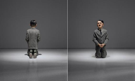 'Him' the controversial kneeling Hitler statue sold for a record €15m at a Christie's auction. Photo: Christie's.