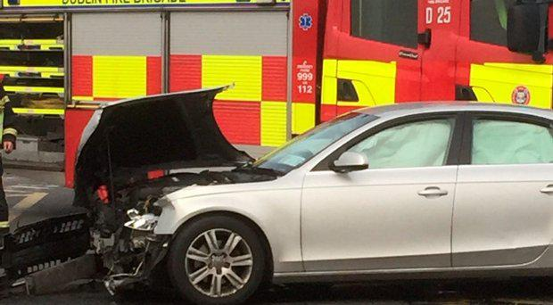 One of the cars involved in the crash today. (Picture: Martin Murray, twitter)