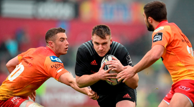 Rory Scannell delivered the final word on Munster's season with a two-try display. Photo: Sportsfile