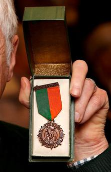 The 1916 Medal was first introduced in 1941 and was awarded to veterans of the Rising or their next of kin. Photo: Steve Humphreys