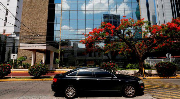 A car passes by outside the Arango Orillac Building at which Mossack Fonseca law firm office is located, in Panama City May 9, 2016