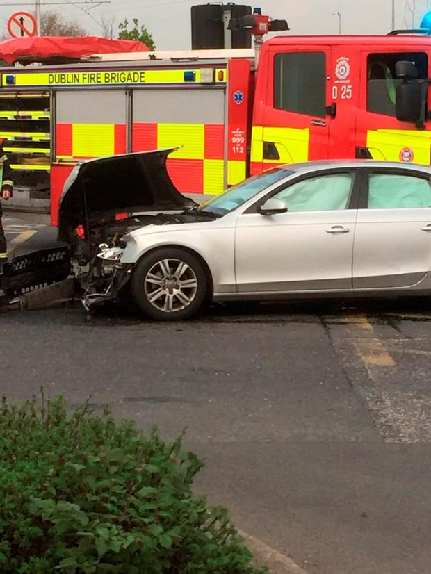 Four people were hospitalised after a crash in Bluebell