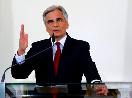 Austrian Chancellor Werner Faymann has resigned