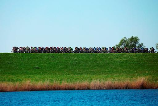 The peloton in action. Photo: Getty