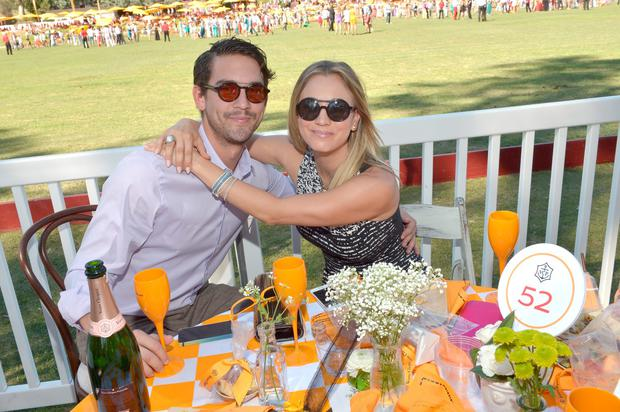 Actress Kaley Cuoco (R) and Ryan Sweeting attends The Fourth-Annual Veuve Clicquot Polo Classic, Los Angeles at Will Rogers State Historic Park on October 5, 2013 in Pacific Palisades, California. (Photo by Charley Gallay/Getty Images for Veuve Clicquot)
