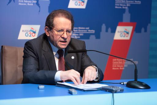 Vice President of the European Central Bank at a press-conference for the summit G20 on February, 16, 2013 in Moscow, Russia