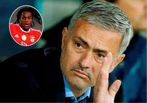 Jose Mourinho and (inset) Renato Sanches