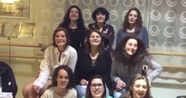 This group of Italian Eurovision fans took to YouTube to show just how dedicated they are to Nicky Byrne's song contest entry. Photo: Onelia Soldini/YouTube