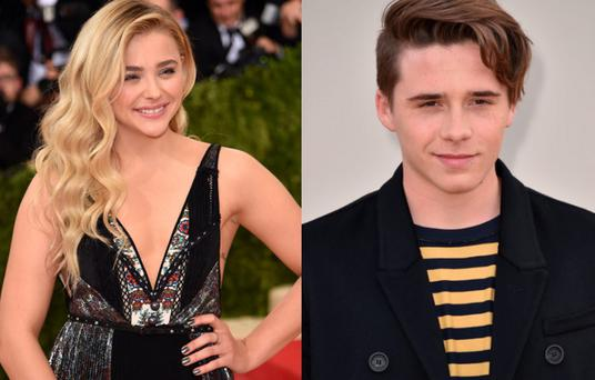 Chloe Moretz (left) and Brooklyn Beckham (right)