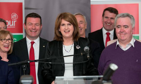 Labour Party Leader Joan Burton TD during a media brieifing at RHA Gallery, Dublin following a meeting of the Parliamentary Labour Party