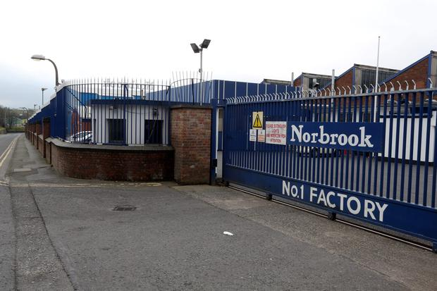 The Norbrook factory in Newry Co Down. Photo: PA