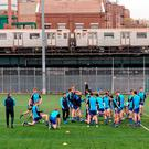 The New York team warm-up for their Championship Round 1 clash with Roscommon last Sunday. Dáire Brennan / SPORTSFILE