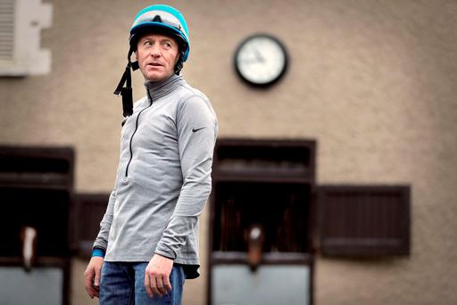 Kieren Fallon in Michael O'Callaghan's yard. Photo: ©INPHO/Morgan Treacy