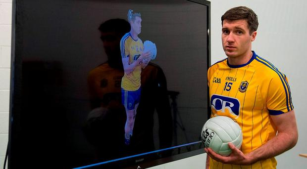 Cathal Cregg in Croke Park, where the Insight Centre for Data Analytics showcased the results of three years of research aimed at capturing and storing European traditional sports techniques for present and future players. Ray McManus / SPORTSFILE