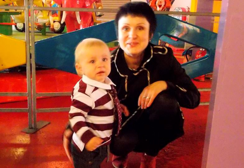 Mum Dace Letina with her son Roland, who died in Latvia