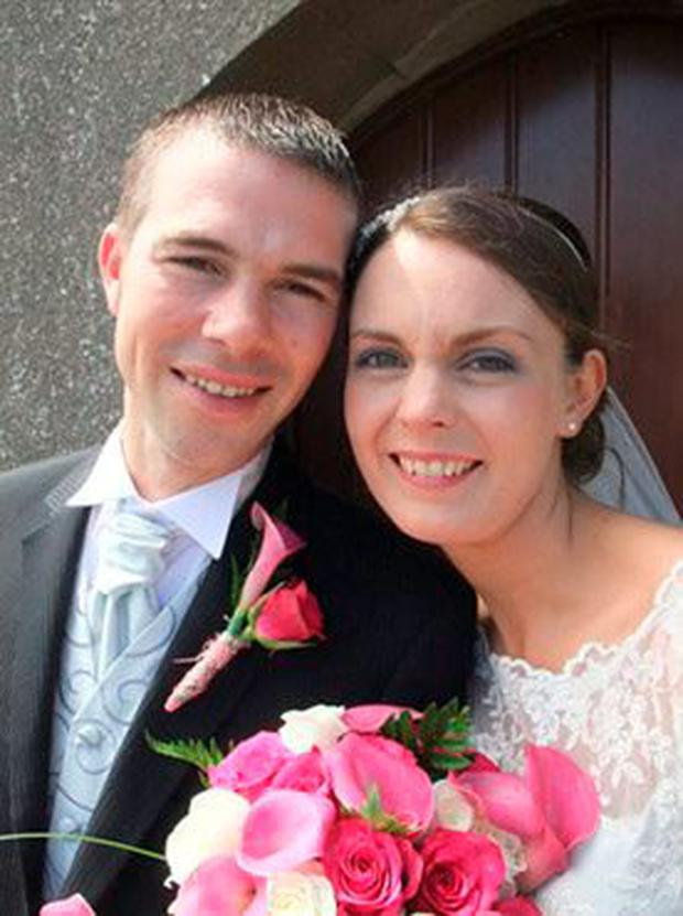 Olivia and Ciaran Dunne on their wedding day