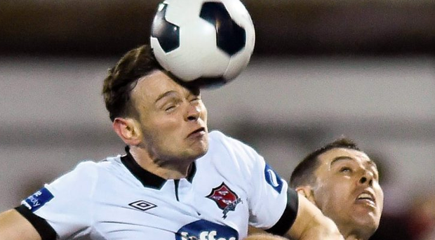 Andy Boyle's 21st-minute header helped maintain Dundalk's four-point lead at the top. Ramsey Cardy / SPORTSFILE