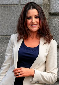 Jennifer Byrne leaves court after yesterday's hearing Photo: Courtpix