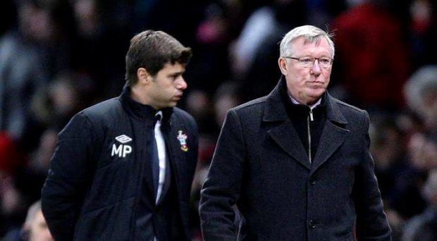 Mauricio Pochettino and Alex Ferguson