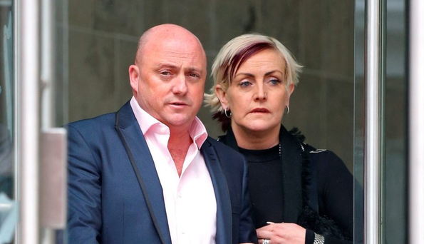 Audrey Mahon with her husband Dave Mahon, who was convicted of killing her son last week (Collins Dublin)