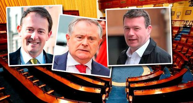 Who will be the next Labour leader? Left- right: Sean Sherlock, Brendan Howlin and Alan Kelly