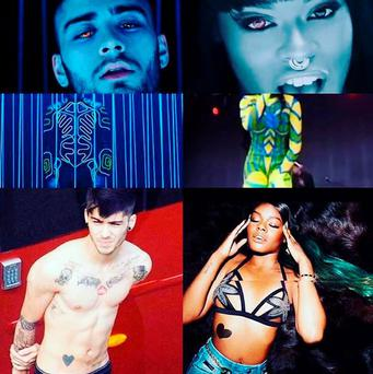 PIC: Azalea Banks Instagram. The artist drew comparisons between her video and Zayn's