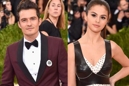 Orlando Bloom (left) and Selena Gomez (right)